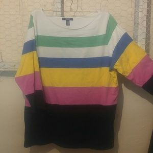 *5 for $20*Chaps 1x multi colored 3/4 sleeve top